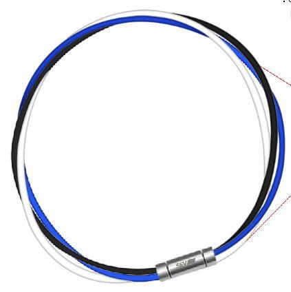 セブ SEV スポーツネックレス ルーパータイプ3M 納期2週間 54cm ブラック/ブルー/ホワイト