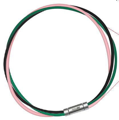 セブ SEV スポーツネックレス ルーパータイプ3M 納期2週間 54cm ブラック/グリーン/ピンク