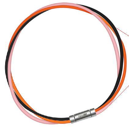 セブ SEV スポーツネックレス ルーパータイプ3M 納期2週間 54cm ブラック/オレンジ/ピンク