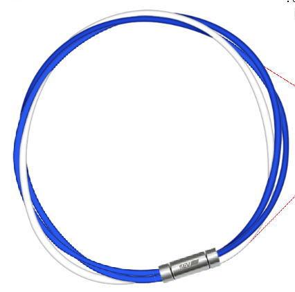 セブ SEV スポーツネックレス ルーパータイプ3M 納期2週間 54cm ブルー2本/ホワイト
