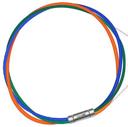 セブ SEV スポーツネックレス ルーパータイプ3M 納期2週間 54cm ブルー/グリーン/オレンジ