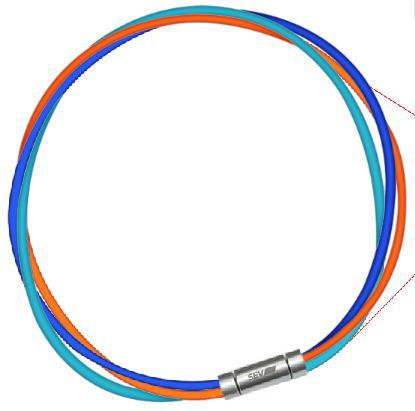 セブ SEV スポーツネックレス ルーパータイプ3M 納期2週間 54cm ブルー/オレンジ/ライトブルー
