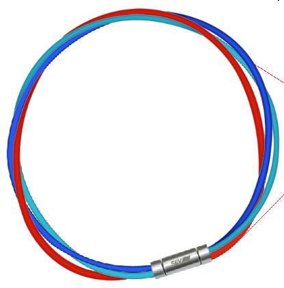 セブ SEV スポーツネックレス ルーパータイプ3M 納期2週間 54cm ブルー/ライトブルー/レッド