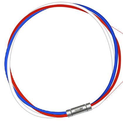 セブ SEV スポーツネックレス ルーパータイプ3M 納期2週間 54cm ブルー/レッド/ホワイト