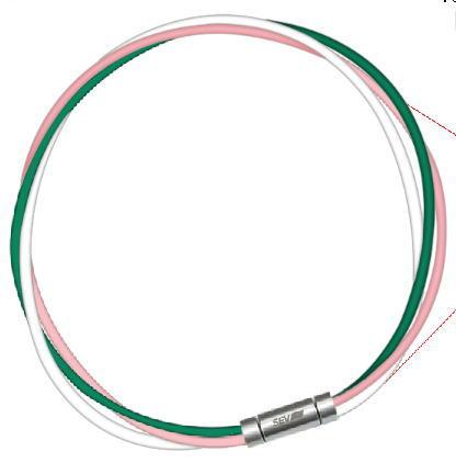 セブ SEV スポーツネックレス ルーパータイプ3M 納期2週間 54cm グリーン/ピンク/ホワイト