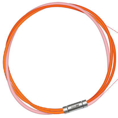 セブ SEV スポーツネックレス ルーパータイプ3M 納期2週間 54cm オレンジ2本/ピンク