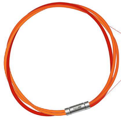 セブ SEV スポーツネックレス ルーパータイプ3M 納期2週間 54cm オレンジ2本/レッド