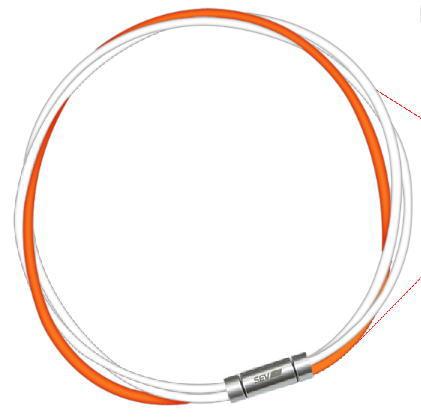 セブ SEV スポーツネックレス ルーパータイプ3M 納期2週間 54cm ホワイト2本/オレンジ