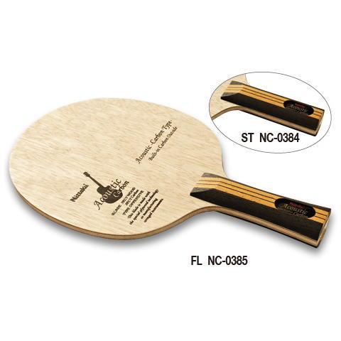 ニッタク Nittaku 卓球ラケット アコースティックカーボン 攻撃用シェークハンド NC-0384 ST ストレート