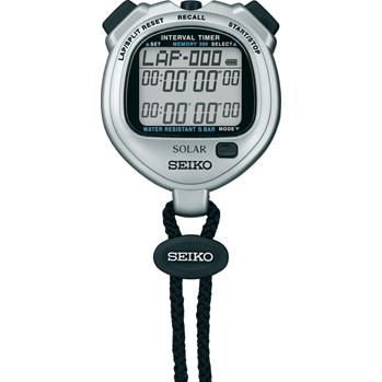 SEIKO セイコー デジタルストップウォッチ ソーラーインターバルタイマー SVAJ101 Sシルバー
