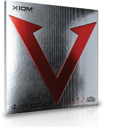 XIOMエクシオン卓球ラケット用ラバーヴェガアジア095081裏ソフト赤<在庫限り>