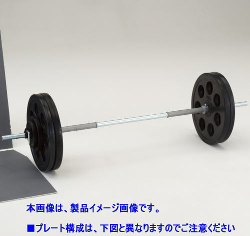DANNO ダンノ 穴付ラバーバーベルST28 50kgセット[φ28mm] D-5004