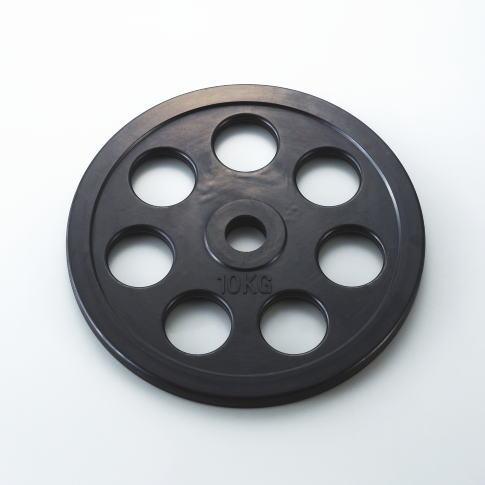 DANNO ダンノ 穴付ラバーベルプレート28mm 10kg D-5013
