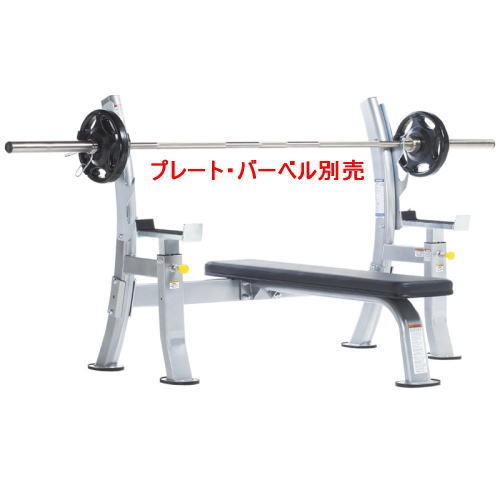 【キャンセル不可・送料無料対象外】タフスタッフ オリンピックベンチwithセーフティストッパーCOB-400