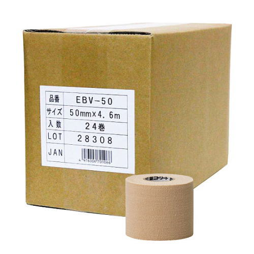 日東メディカル テーピング スポーツテープ ニトリートEBテープ バリューパック EBV-50 50mm x4.6m 24巻[T]