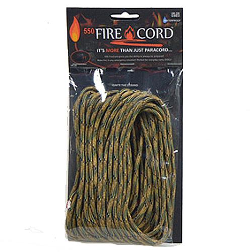 ライブファイヤーギア Live Fire Gear552 Fire Cord 火口 着火材 ファイヤーコード マルチカモ100ft