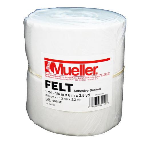 Mueller ミューラー テーピング 緩衝材 フェルト のり付き ロール状 6mm×15cm×227cm 060152
