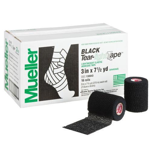 Mueller ミューラー テーピング ティアライトテープ 76mm ブラック 130643 16個入り[T]