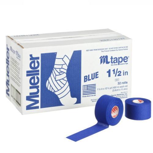 Mueller ミューラー テーピング Mテープチームカラー ブルー 38mm 32個入り 130820[T]