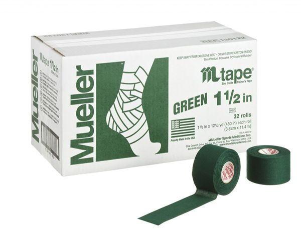 Mueller ミューラー テーピング Mテープチームカラー グリーン 38mm 32個入り 130821[T]