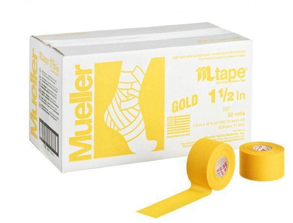 Mueller ミューラー テーピング Mテープチームカラー ゴールド 38mm 32個入り 130823[T]