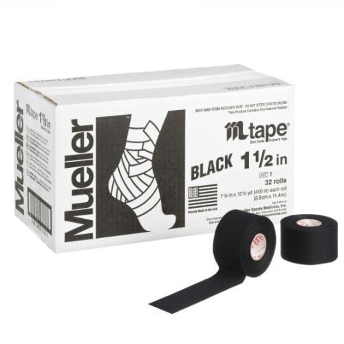 Mueller ミューラー テーピング Mテープチームカラー ブラック 38mm 32個入り 130824[T]