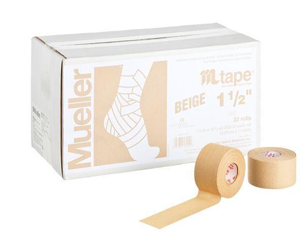 Mueller ミューラー テーピング Mテープチームカラー ベージュ 38mm 32個入り 130827[T]
