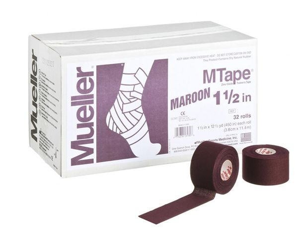 Mueller ミューラー テーピング Mテープチームカラー マルーン 38mm 32個入り 130828[T]