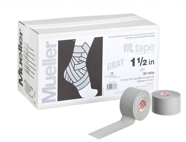 Mueller ミューラー テーピング Mテープチームカラー グレー 38mm 32個入り 130829[T]