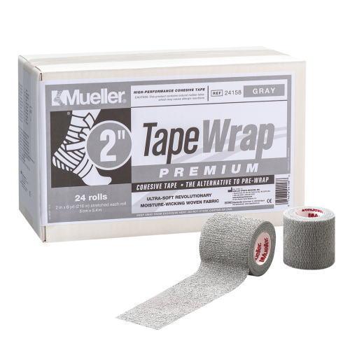 Mueller ミューラー テーピング テープラップ プレミアム50mm 24個入り 24158 自着性伸縮テープ グレー[T]