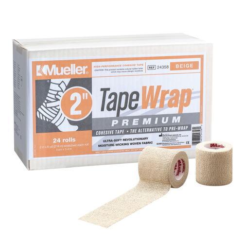 Mueller ミューラー テーピング テープラップ プレミアム50mm 24個入り 24358自着性伸縮テープ ベージュ[T]