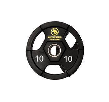 マーシャルワールド ポリウレタンオリンピックプレート穴径50mm・10.0kg UP10000