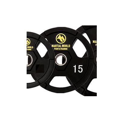 マーシャルワールド ポリウレタンオリンピックプレート穴径50mm・15.0kg UP15000