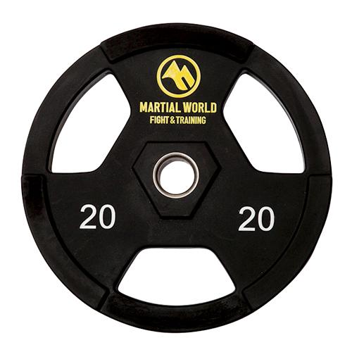 マーシャルワールド ポリウレタンオリンピックプレート穴径50mm・20.0kg UP20000
