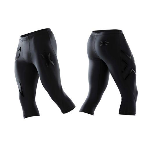 2XU ツー・タイムズ・ユー コンプレッション 3/4 タイツ パンツ MA1942B メンズ ブラック/ネロロゴ