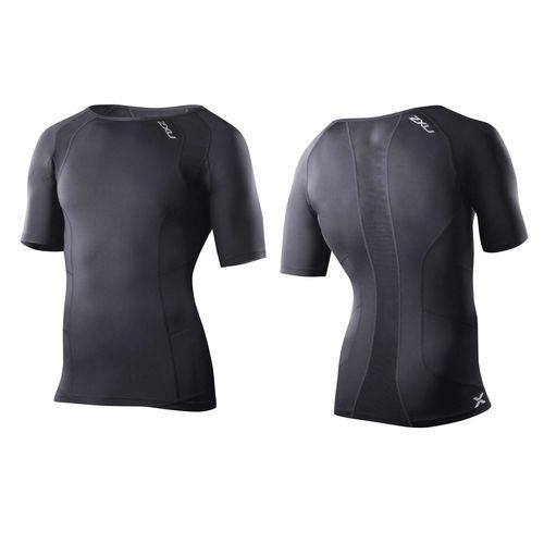 2XU ツー・タイムズ・ユー コンプレッション S/S トップ 半袖シャツ MA2307A メンズ ブラック<在庫僅少>