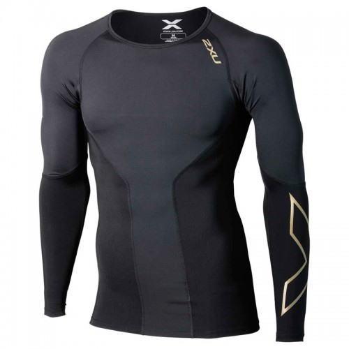 2XU ツー・タイムズ・ユー エリート コンプレッション L/S トップ 長袖シャツ MA3014A メンズ ブラック/G<在庫僅少>