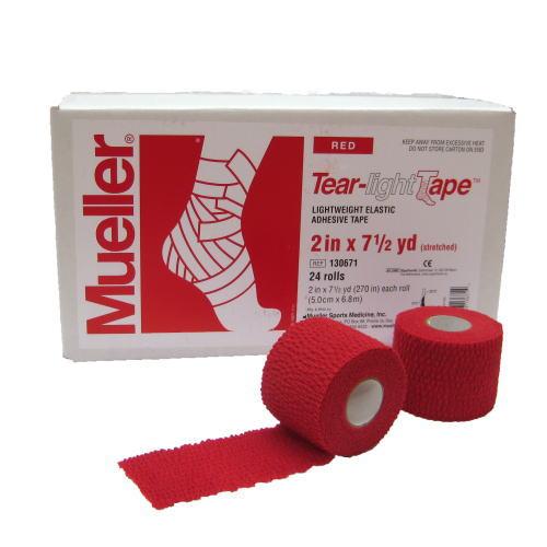 Mueller ミューラー テーピング ティアライトテープ 50mm レッド 130681 24個入り[T]