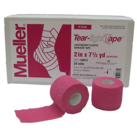 Mueller ミューラー テーピング ティアライトテープ 50mm ピンク 130682 24個入り[T]