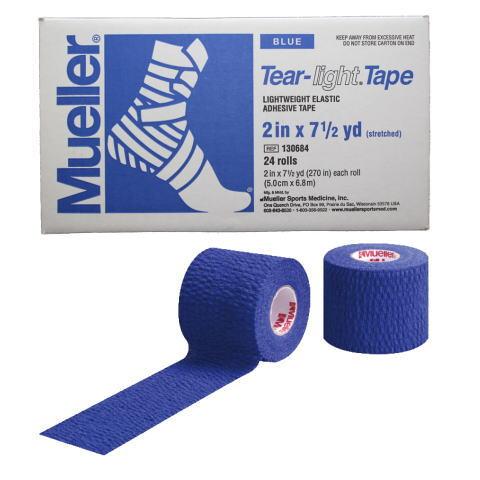 Mueller ミューラー テーピング ティアライトテープ 50mm ブルー 130684 24個入り[T]