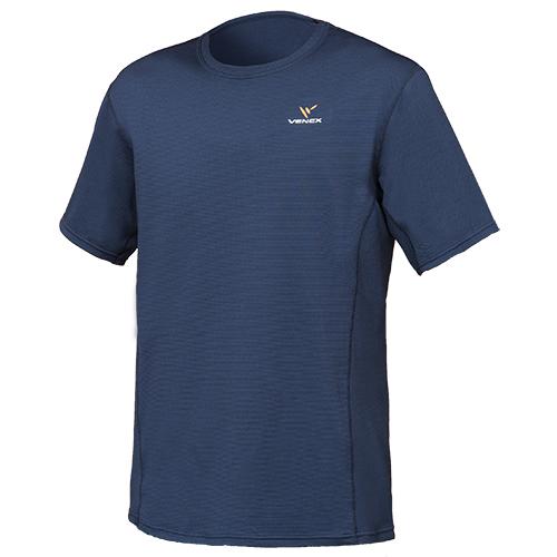 VENEX ベネクス リカバリーウエア スタンダードドライ ショートスリーブ Tシャツ メンズ 6520 ネイビー