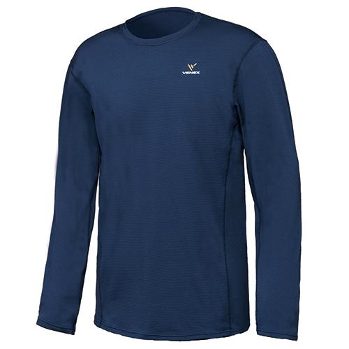 VENEX ベネクス リカバリーウエア スタンダードドライ ロングスリーブ Tシャツ メンズ 6522 ネイビー