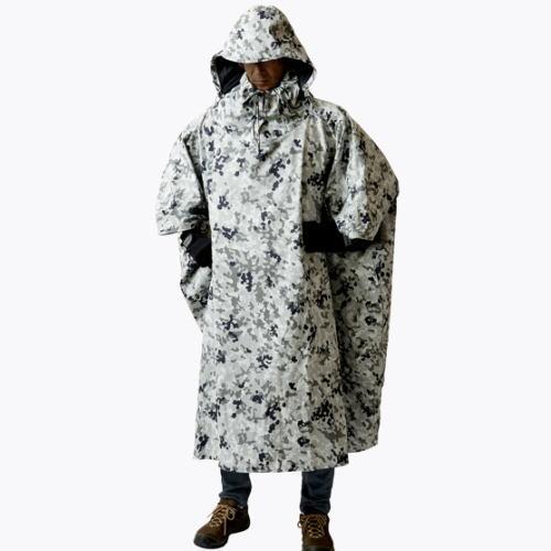 プロモンテ PuroMonte 迷彩アクター 遮光ポンチョ GKP02 雨具レインウェア ホワイトカモフラージュ