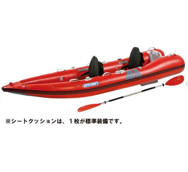 ジョイクラフト KAYAK-340 カヤック カヌー ゴムボート パドル/バックレストシート付
