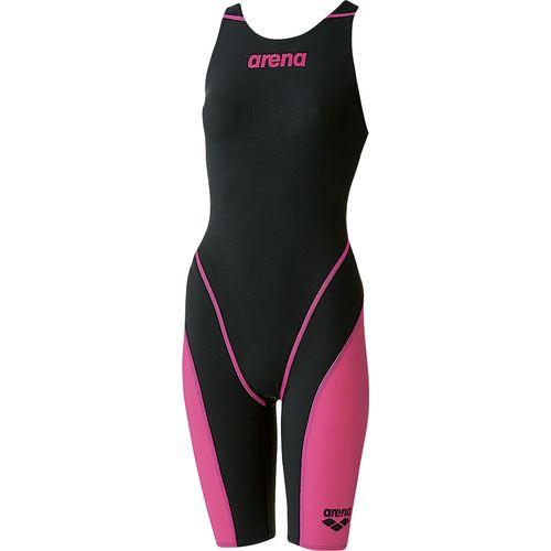arena アリーナ スイミング 水泳 水着 ジュニアハーフスパッツオープンバック ARN-7010WJ 女児子供用 BKPK