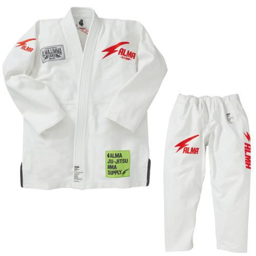 マーシャルワールド ALMA 国産柔術衣 THUNDER サンダー JU7 A0 白 上下セット