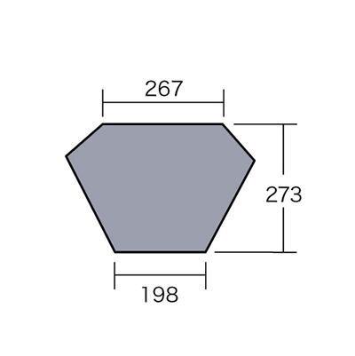 Campal Japan キャンパルジャパン テント床下 PVCマルチシ-ト TRES トレス用 1424<店頭在庫限り>