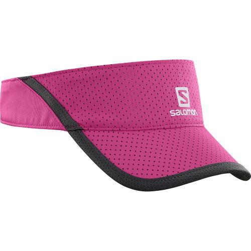 SALOMON サロモン トレイルランニング サンバイザー キャップ帽子 XA VISOR L40045000 ピンク<店頭在庫限り>