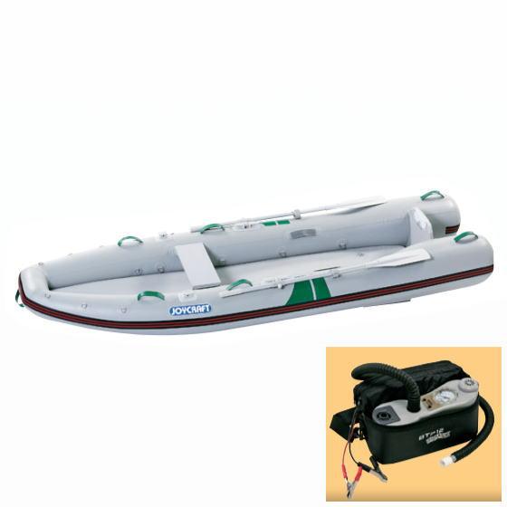 ジョイクラフト KAYAK-335 カヤック カヌー ゴムボート オール・腰掛板・電動ポンプ付き