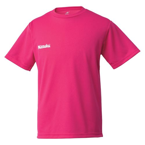 運賃お得メール便可 Nittaku ニッタク 待望 卓球ウエア ドライ T 21 定番 ピンク ジュニアシャツ シャツ NX2062 男女兼用